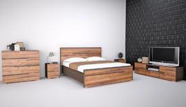 Hálószoba bútor garnitúra, szett, ágy, gardrób, éjjeli - matrac.hu-de