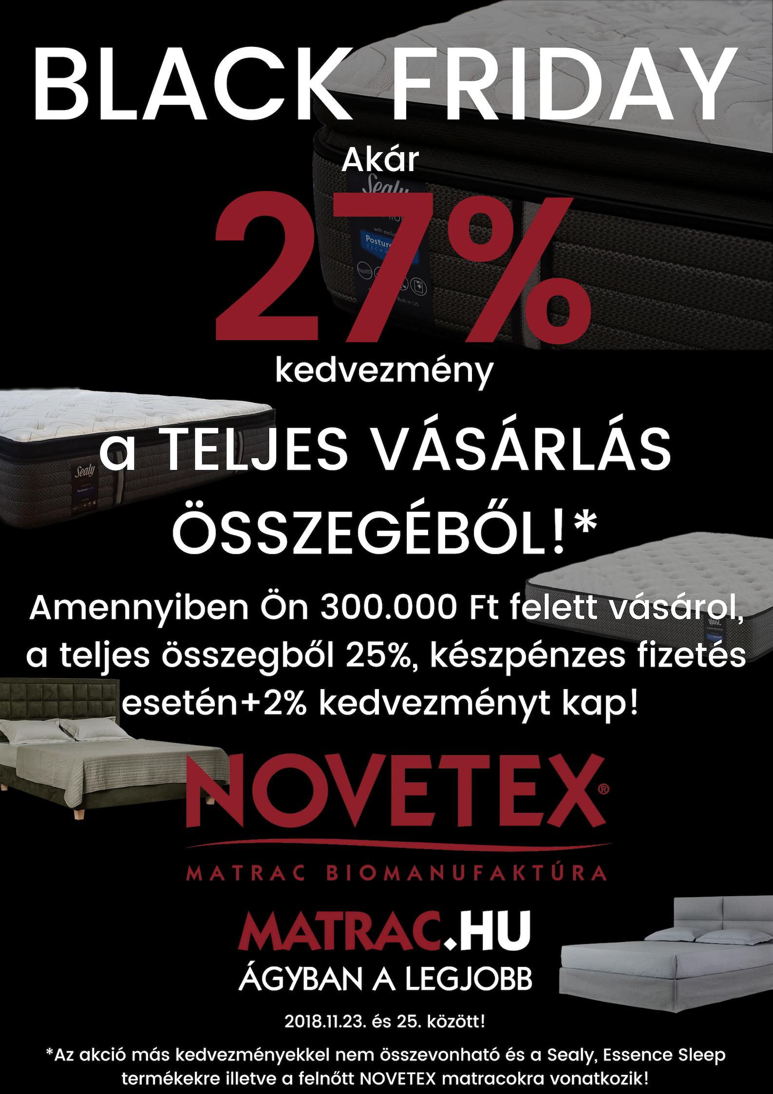 Fekete Péntek - Black Friday 2018 AKCIÓ a NOVETEX-nél! d005b6e455